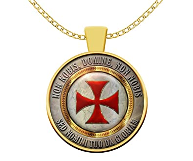 Amazon Knights Templar Masonic Necklace Non Nobis Domine