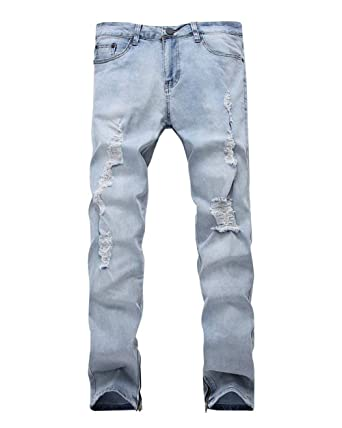 ADELINA Pantalones Vaqueros De Los Hombres Slim Fit Stretch ...