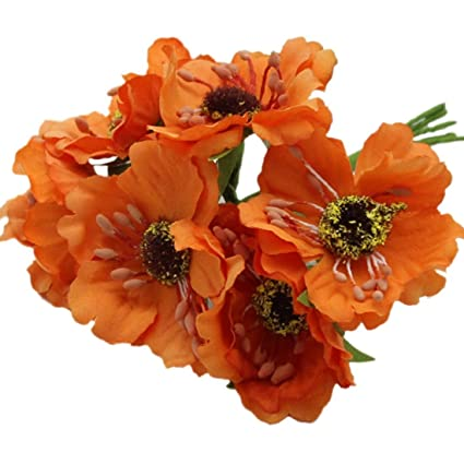 Amazon artificial poppies camellia sodialr silk poppies artificial poppies camellia sodialr silk poppies camellia 5cm 60pcslot artificial mightylinksfo