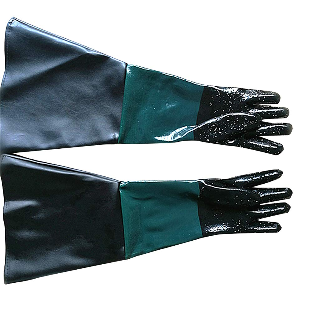 Rubber Sandblasting Gloves for Sandblast Cabinets, 23.6 inch Sandblaster Gloves for Model 60, 90, 110, 260 Sandblast Cabinet LBST01