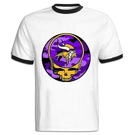 97e801651 Men s NFL Minnesota Vikings Grateful Dead T-Shirt 100% Cotton  Amazon.ca   Clothing   Accessories