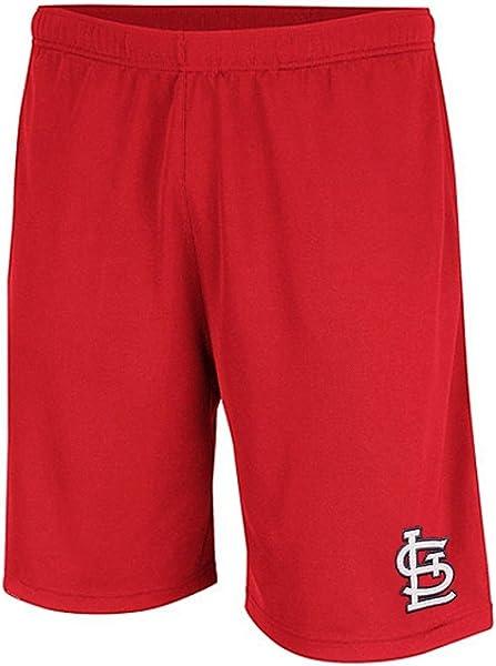 Large Team Color FOCO MLB St Louis Cardinals Mens Gradient Big Logo Training Shortgradient Big Logo Training Short