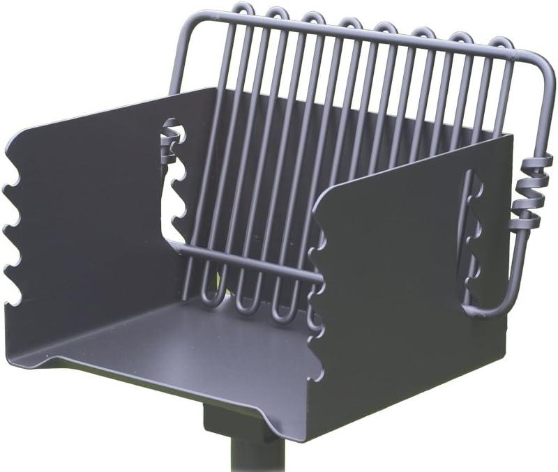Pilot Rock Steel Park-Style Backyard Charcoal Grill – 16 1 4in.L x 14 1 8in.W, Model Number CPB-135