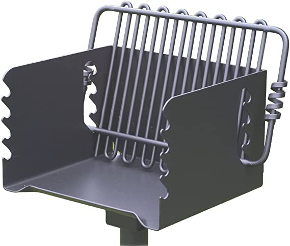 Pilot Rock Steel Park-Style Backyard Charcoal Grill - 16 1/4in.L x 14 1/8in.W
