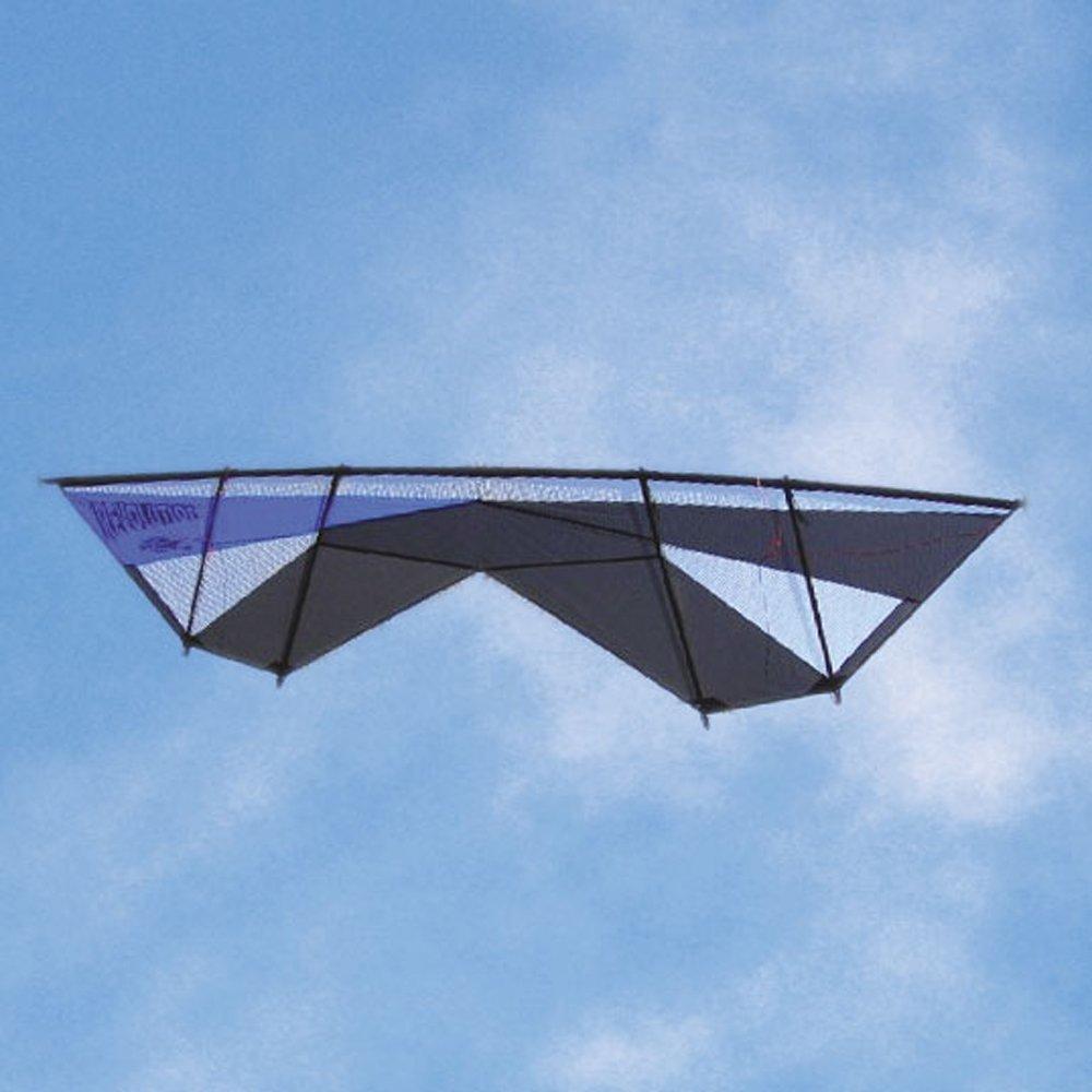 Revolution Supersonic Quad Line Stunt Kite Blue Black Made in the USA