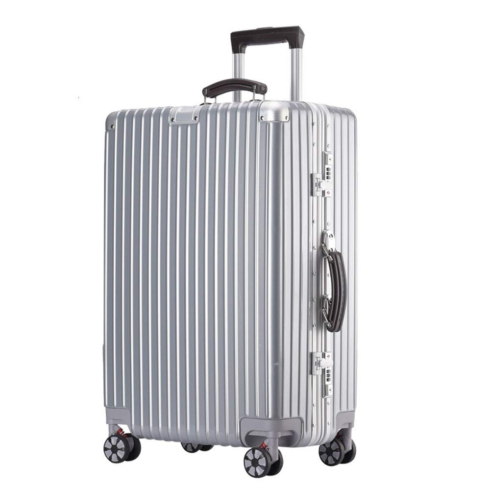 5 Colors 2 ABS//PC YD Luggage Set Trolley case Stylish Small Fresh and Bright Aluminum Frame Caster Student Large Capacity Suitcase Built-in Password Lock Comfortable Handle