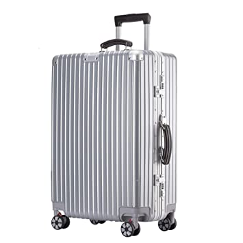 Comfortable Handle YD Luggage Set Trolley case ABS//PC 2 Built-in Password Lock 5 Colors Stylish Small Fresh Retro Bright Aluminum Frame Caster Student Large Capacity Suitcase