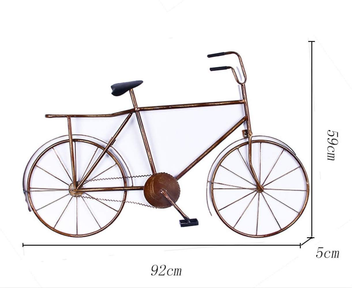 nouler Vintage Wrought Iron Bicycle Wall Hanging Decoration Cafe Personality Creative Home,Section A,One Size