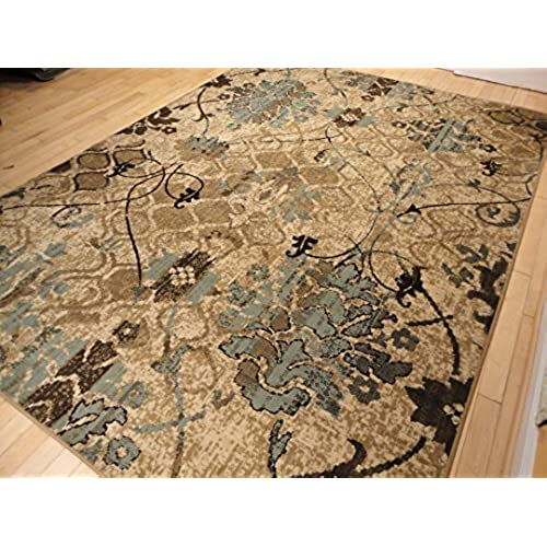 Contemporary Rugs For Living Room Dining Area 5x8 Clearance Under 50 Bed Office Blue Carpet Beige Cream Modern Rug