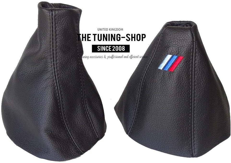 10/Manuelle Gear /& Handbremsmanschette schwarz Italienisches Leder M3/Logo Stickerei F/ür BMW X3/E83/2003