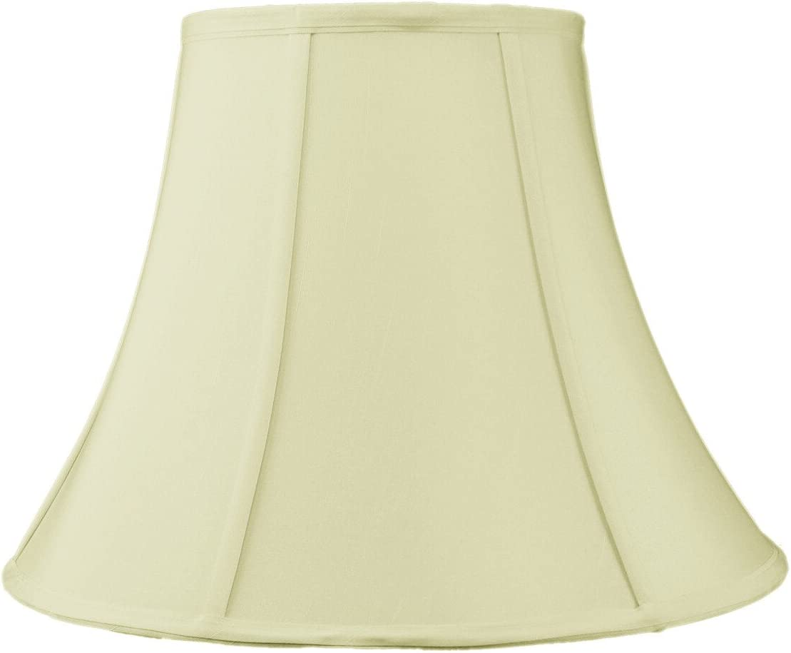 HomeConcept 081612BLES Egg Shell Shantung Bell Lampshade with Brass Spider Fitter by Home Concept, 8 x 16 x 12