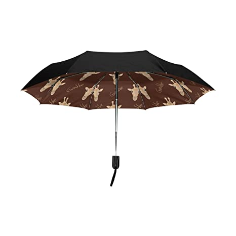 f7ff3b253d43 Amazon.com : Aideess Outer Black Umbrella Giraffe UV Anti ...