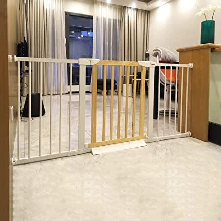 Puerta de seguridad para niños Escaleras De Bebé Multifuncionales Puertas De Partición Cerco Mascotas Gatos Perros Deflector Instalación Sin Herramientas, Altura 74.5cm (Tamaño : 110-117cm): Amazon.es: Hogar