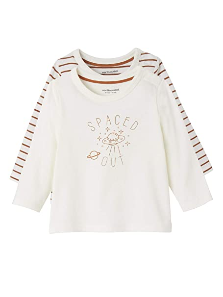 VERTBAUDET Lote de Camisetas para bebé niña de Manga Larga ...