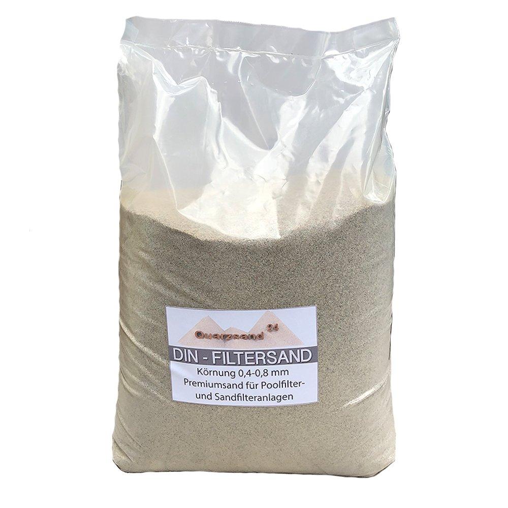 2 x 25 kg Filtersand f/ür Sandfilteranlagen Quarzsand 0,4-0,8 mm H1 Marke Meinpool24.de