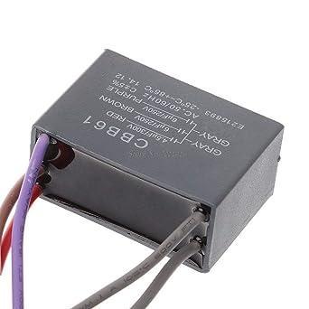CBB61 condensador de ventilador de techo 45uf+6uf+6uf 5 cables ...