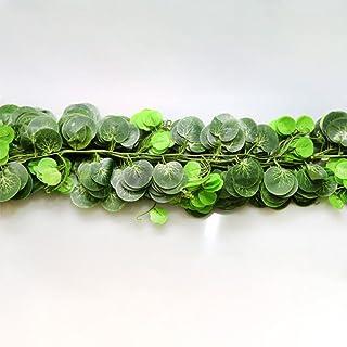 EMVANV 2.5m/98IN edera artificiale foglia ghirlanda piante da cucina giardino ufficio matrimonio decorazione da parete, Come da immagine, begonia