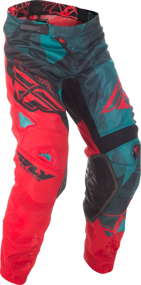 Fly Racing Unisex-Adult Kinetic Mesh Pants Teal/Red/Black Size 30