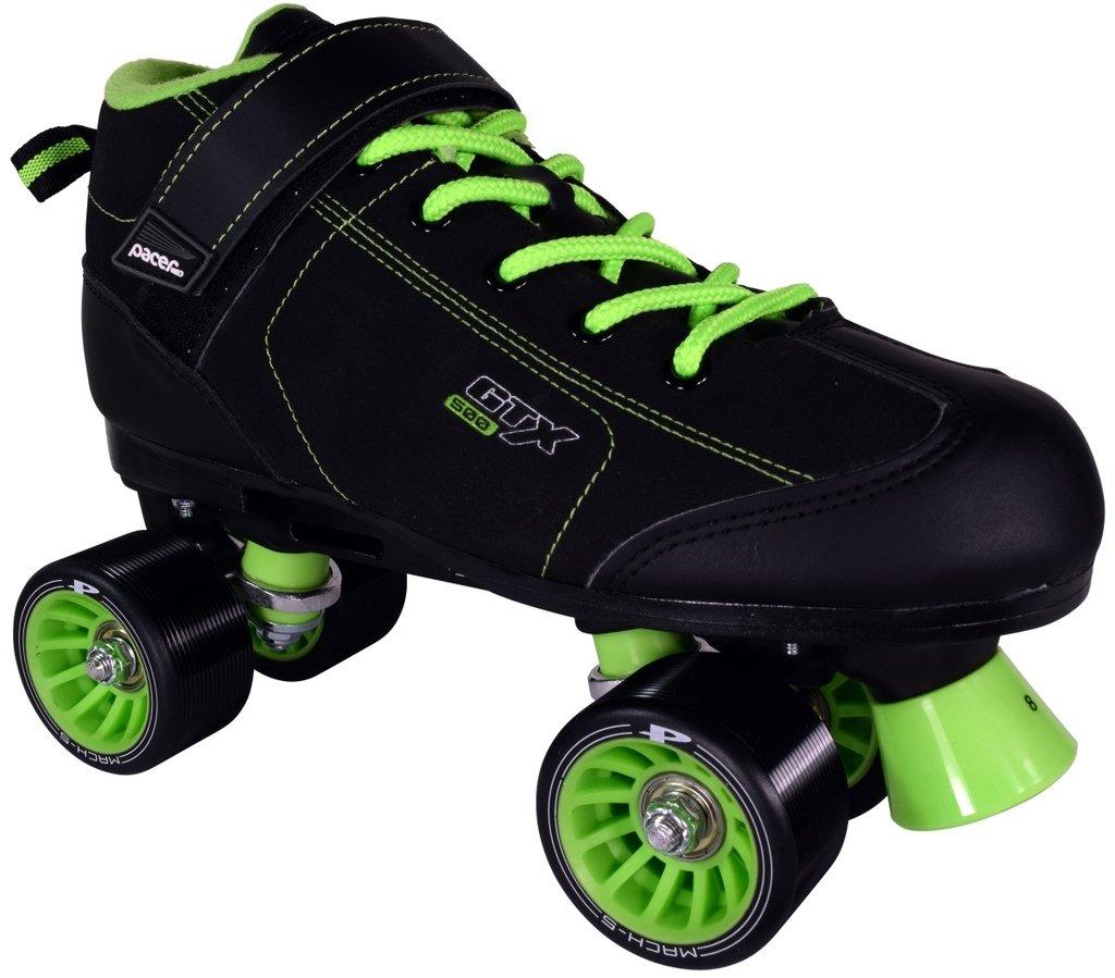 Pacer GTX 500 Roller Skatesブラックとライム B01MS2FU31 Men 9 Ladies 10