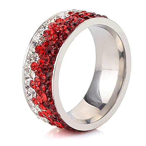 Amazon.com: DARLING HER 6/7/8/9 - Anillo de acero inoxidable ...