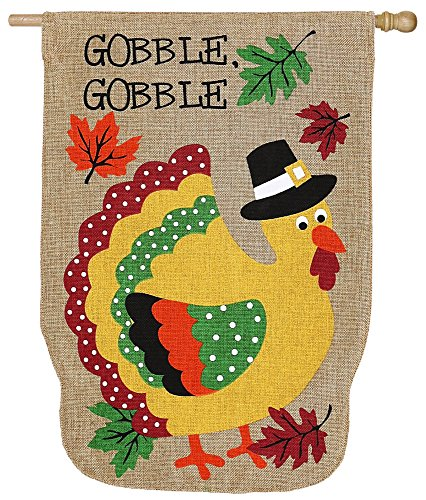 Evergreen Enterprises 13B3563 Pilgrim Turkey Vertical Flag