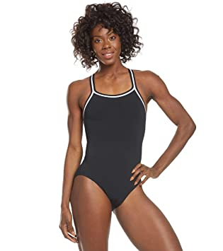 90379ab8d1 Amazon.com: DOLFIN TEAM SOLID DBX BACK SUIT WOMENS: Clothing