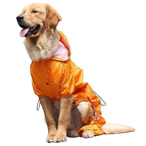 b78c0e7d16b31 OSPet Summer Comfort Breathable Waterproof Four Feet Raincoat for Large Dog