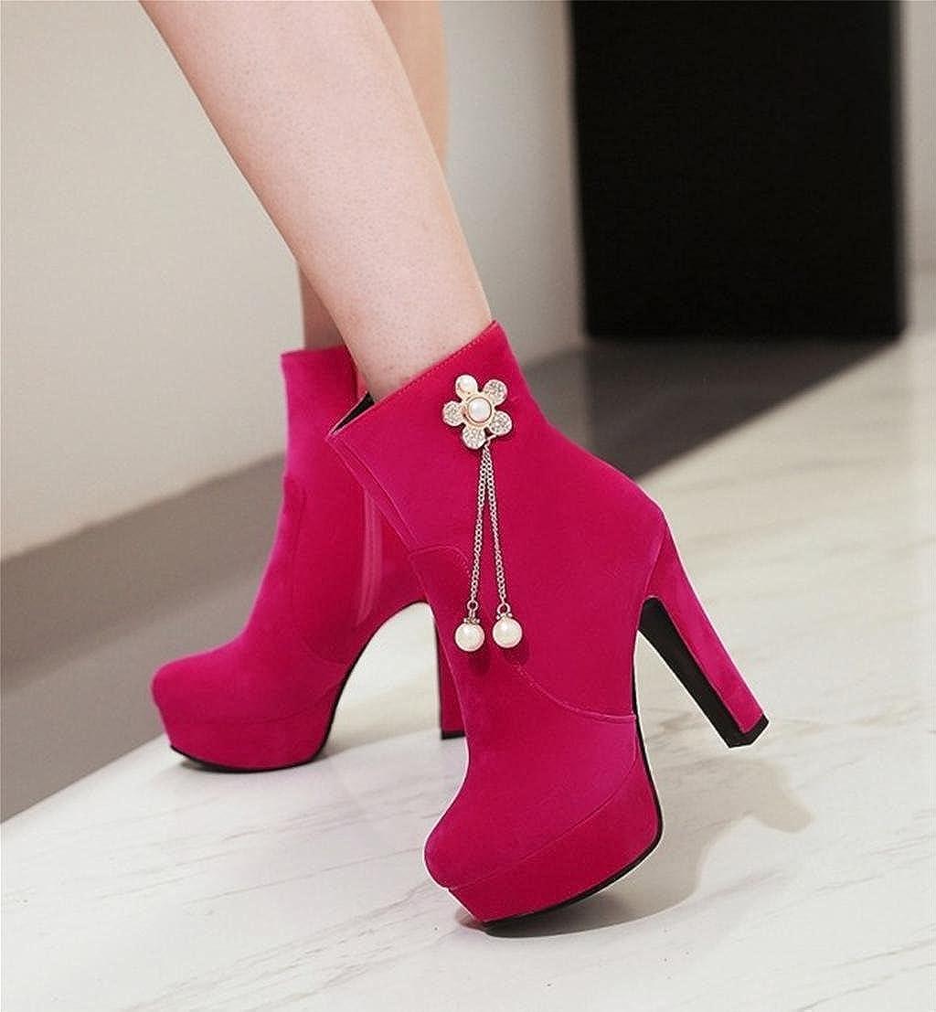 MNII Frauen Stiefel Knöchelriemen Plattform Blaumen Pumpe Mode Martin Martin Martin Stiletto Ferse Party Kleid Stiefel Schuhe- Modeschuhe 20e830