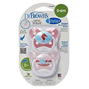 Dr. Brown's Prevent Butterfly Pacifiers Stage 1, Pink