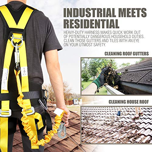 Commando Fall Protect Full-Body Safety Harness with Lanyard (ANSI and OSHA Compliant) by commando (Image #5)