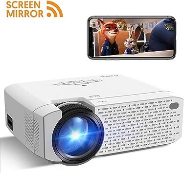 Mini proyector, Crosstour proyector de vídeo con función de Espejo ...