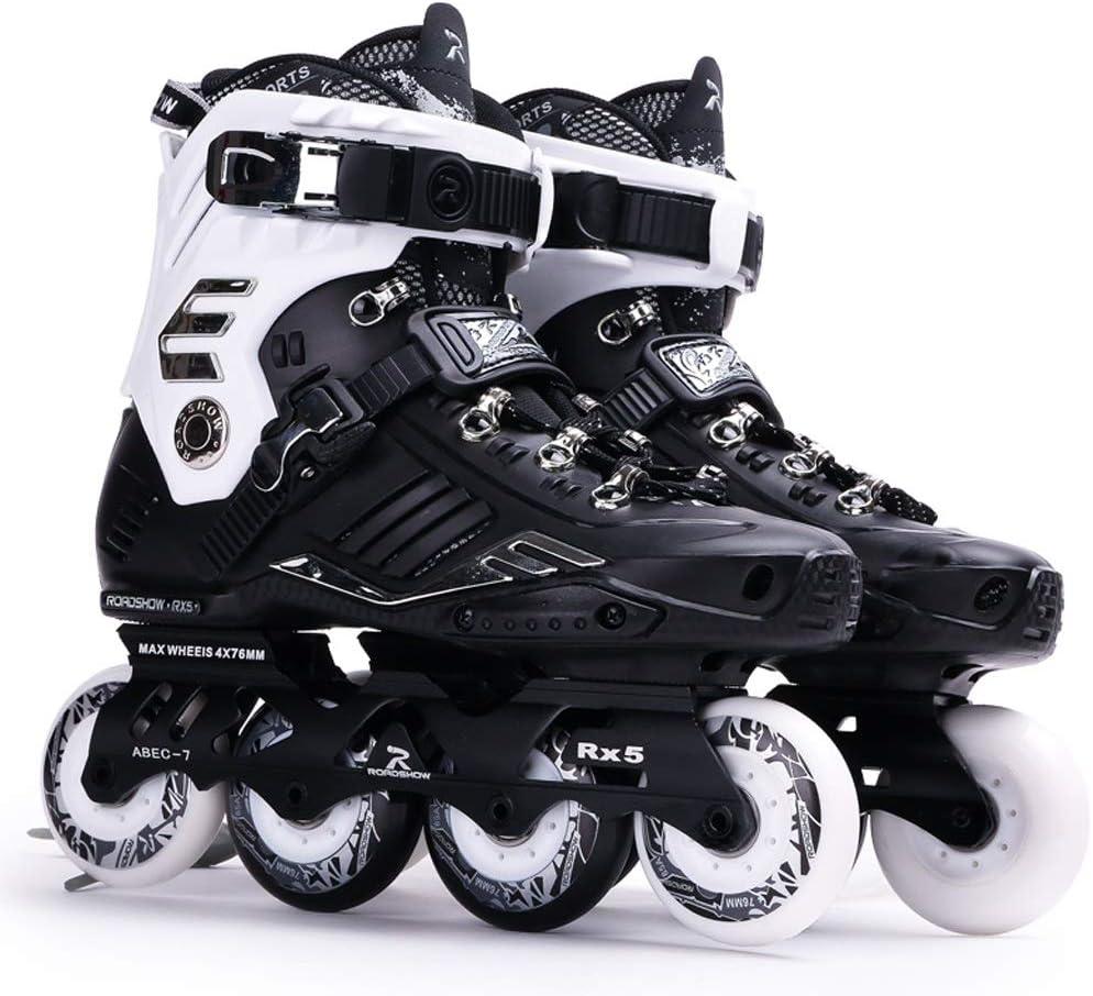 XZ15 インラインスケート、初心者ローラーシューズ、ファンシースケート靴、スケート靴、プロフェッショナルシングル行のスケートシューズ (Color : #1, Size : EU 38/US 6/UK 5/JP 24cm) #1 EU 38/US 6/UK 5/JP 24cm
