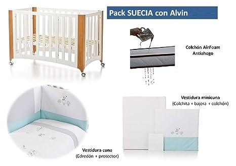 Bolin Bolon Pack Cuna-minicuna colecho SUECIA completa ALVIN
