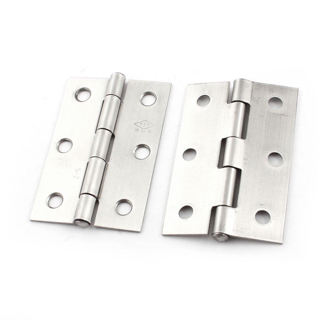 2 piezas para cajones de armarios para puerta acero inoxidable bisagras 65 mm Longitud Sourcingmap a14092200ux1048