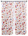 Ellis Curtain Cornwall Jacobean Floral Thermal Insulated Pinch Pleated Patio Panel, 96 by 84-Inch, Multicolor