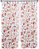 Ellis Curtain Cornwall Jacobean Floral Thermal Insulated Pinch Pleated Curtains, 48 by 63-Inch, Multicolor