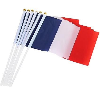 Trixes 10 Bandiera Francese In Nylon Portatile Per La Festa Della