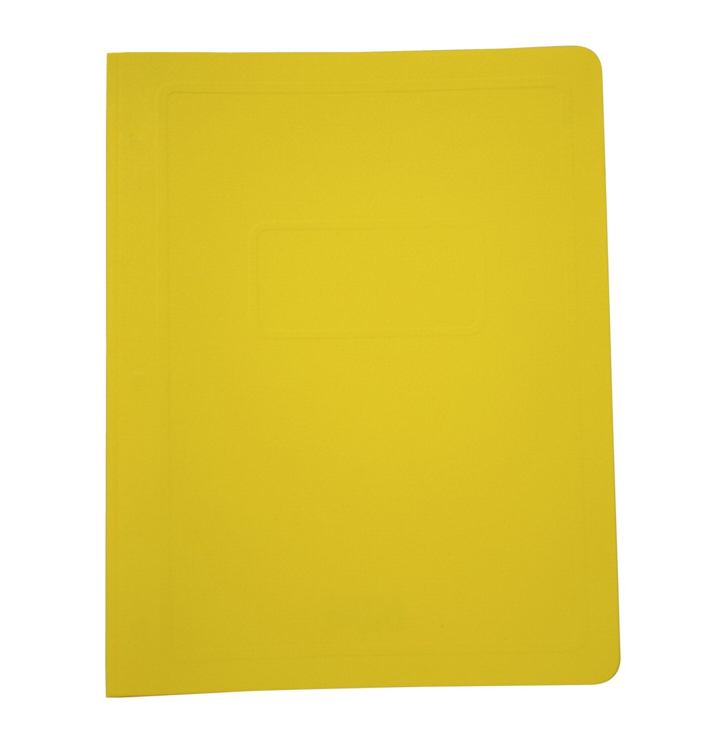School Smart Report Cover with 3 Hole Fastener Insert - 8 1/2 x 11 inch - Pack of 25 - Yellow