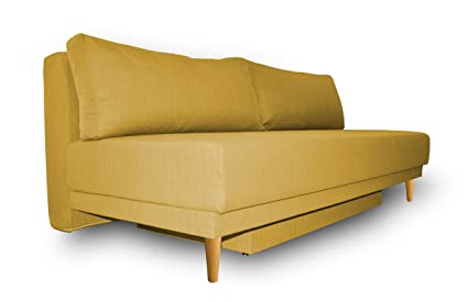 Pleasant Amazon Com Manhattan Sofa Bed Mustard Kitchen Dining Gamerscity Chair Design For Home Gamerscityorg