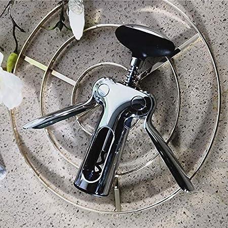 HCFSUK Abrebotellas de vino tinto aleación de zinc multifuncional Wing sacacorchos Screwpull Cork Remover Accesorios Cocina Restaurante Chateau y Bares