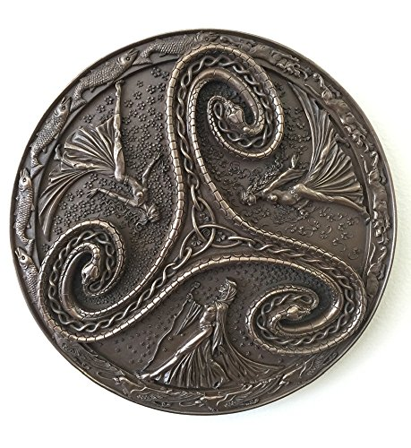Triple Goddess Triskelle Wall Plaque (Cernunnos Plaque)