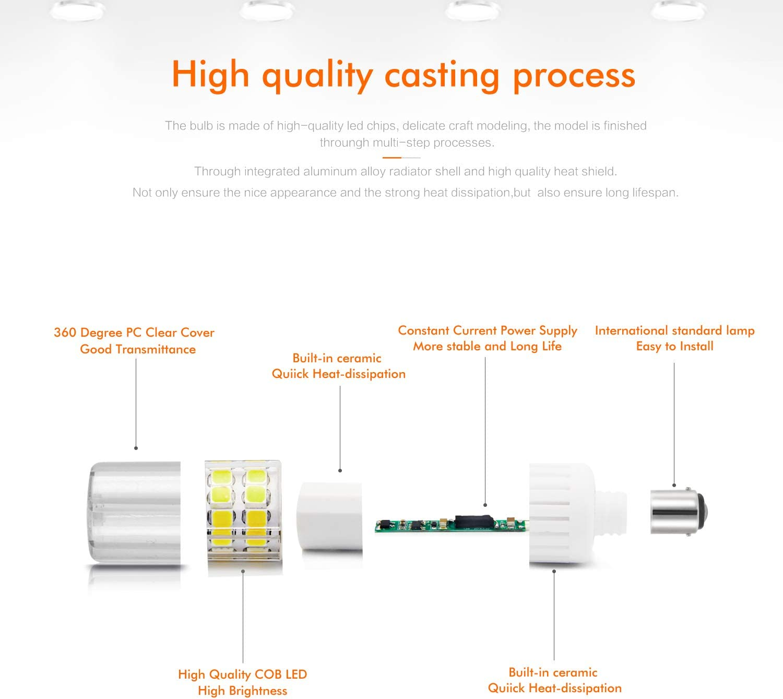 Ymm Bombilla LED B15D 7.5W LED Blanco Frío 6000K Non-Dimmable ...