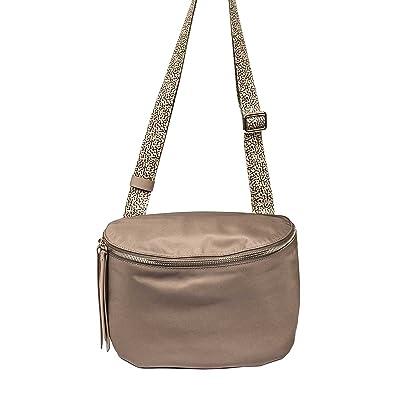 Borbonese Women's 934240138P57 Grey Polyester Shoulder Bag