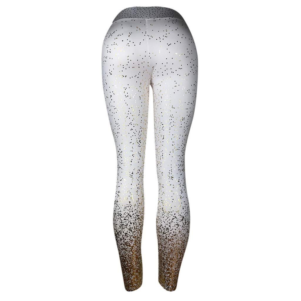 ODJOY-FAN Stampa Pantaloni da Yoga Leggings per Allenamento Moda Donna Fitness Sports Gym Running Yoga Athletic Pants Sportivi Donna Push Up-Eleganti Sport Palestra Leggins
