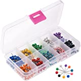 Zealor 1/8 Inch Map Push Pins, Map Tacks with 10 Assorted Colors, 500 Pieces