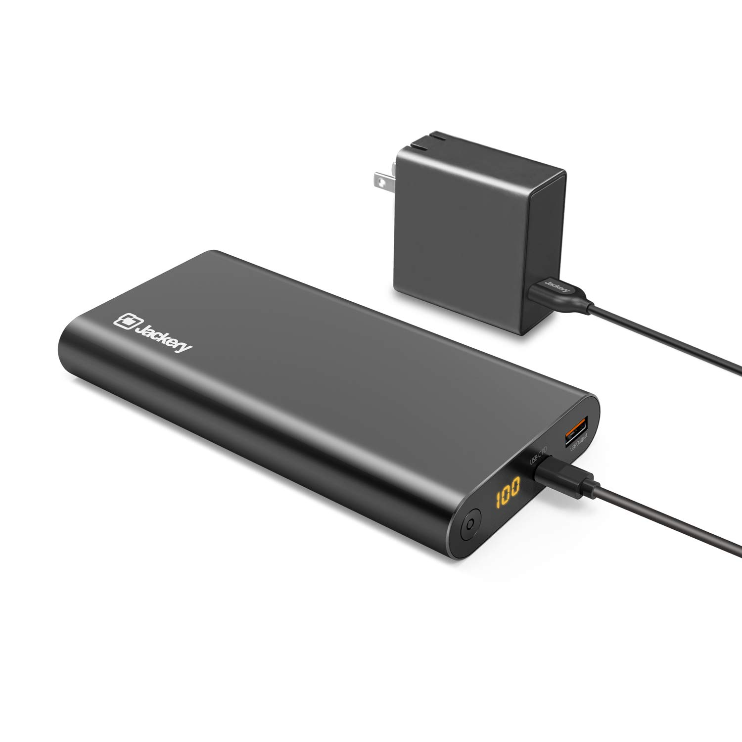 Jackery Supercharge 26800 PD, 26800mAh Portable Charger Power Outdoors USB C 45W Power Bank & 45W Wall Charger for iPhone 8/ X, Nexus 5X 6P, USB C Laptops(e.g.MacBook) Nintendo Switch [Power Delivery] by Jackery