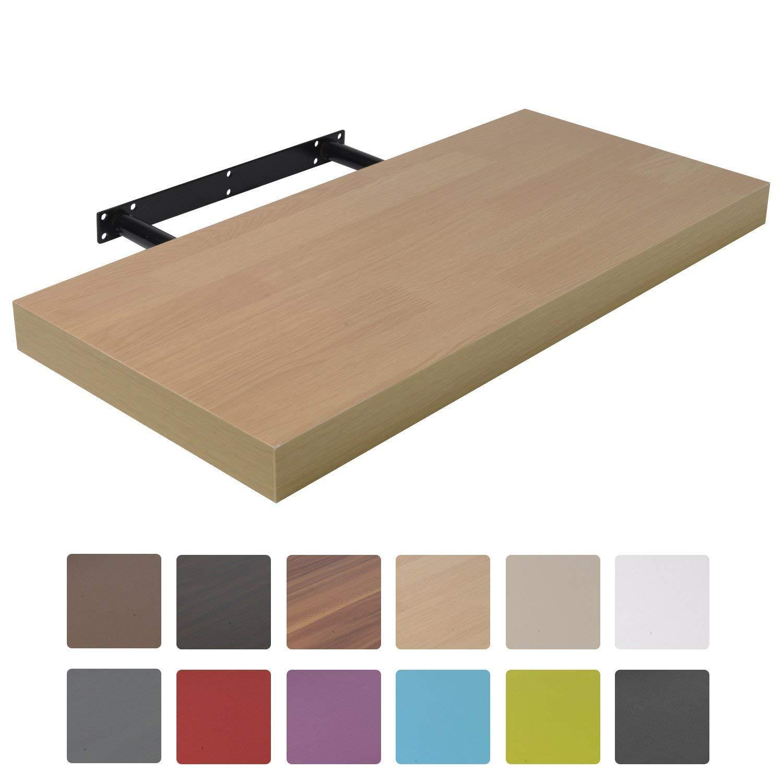 Moorland Mensola da Muro a Scomparsa Pegasus 25 x 22,8 x 3,4 cm scaffale Effetto sospeso Portata 5kg Bianco