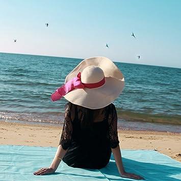 Shysnow Alfombras de Playa Manta de Picnic Portátil Manta de Playa 200x200cm Azul