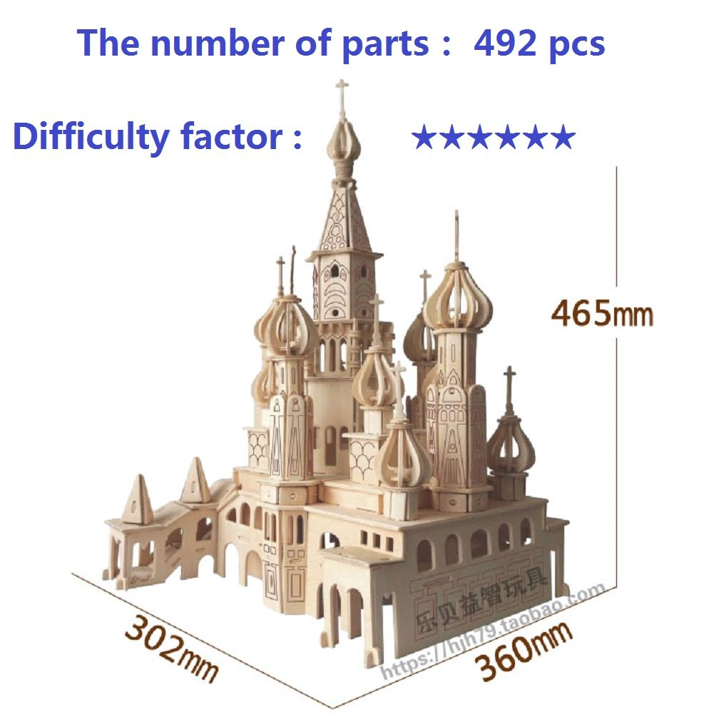 【18%OFF】 Lingduan Innovative New Favourable Castle Imaginative DIY Kit Difficult for 3D Simulation Model Wooden Puzzle Kit for Children Or Adults Artistic Wooden Toys for Children-Buildings Series Castle B073WZJD66, お肉屋のふじ子ちゃん:a75ea069 --- a0267596.xsph.ru