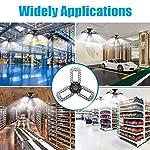 Aipsun LED Garage Light 2 Pack 80W Black Deformable Garage Ceiling Light 8000LM E26/E27 LED Light Bulbs for Workshop… 13